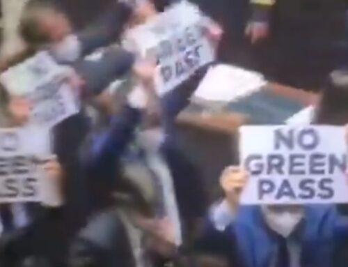 Chaos Erupts in Italian Parliament Over Vaccine Passport Plans