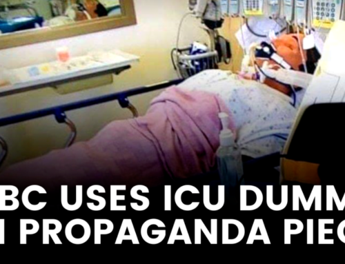 CBC uses mannequin instead of patient to show crowded ICU